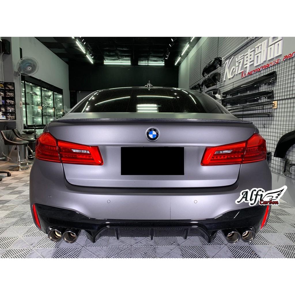 【Alfi Carbon】 BMW G30 G31 M5款 亮黑 後下巴 520 530 540