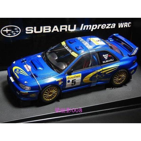 奧拓1:18 AutoArt斯巴魯Subaru Impreza WRC BURNS車模