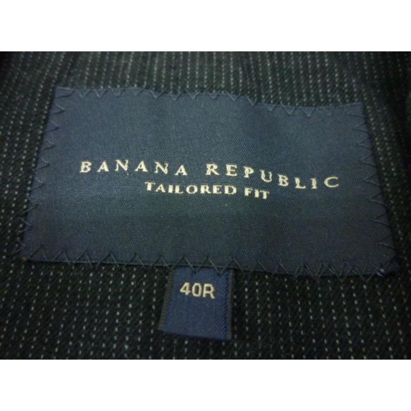 BANANA REPUBLIC 深灰色 棉質 休閒款 西裝外套