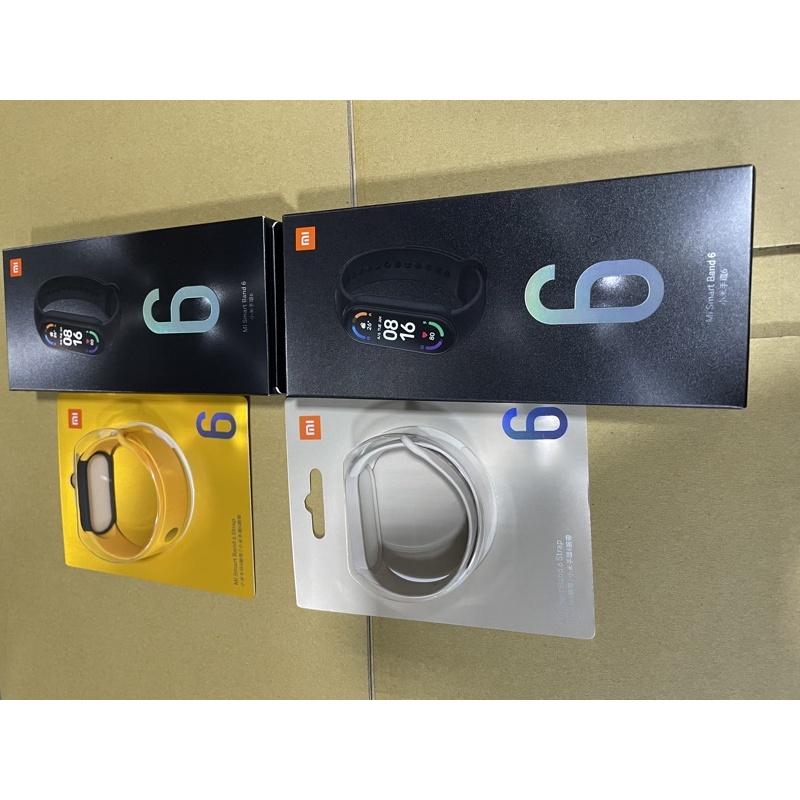小米手環6全新未拆台灣公司貨+雙色替換配色手環腕帶