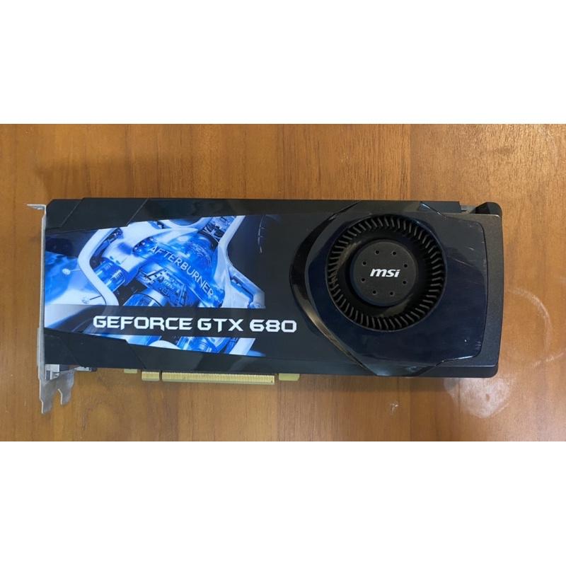 微星Gtx 680 2g 二手過保 正常使用 可順跑LOL/亮機卡/遊戲卡 960 970 1050TI 1060