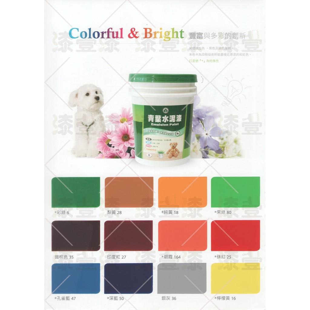 【漆彩】免運含發票可刷卡-青葉1000平光水泥漆 ((免運)) #特殊色 5加侖裝