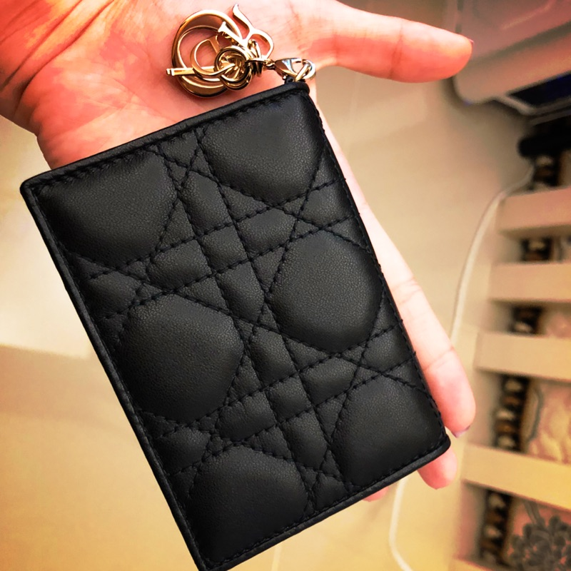 🔥降🔥 保證正品❤️ Dior 卡片包 短夾全黑配色