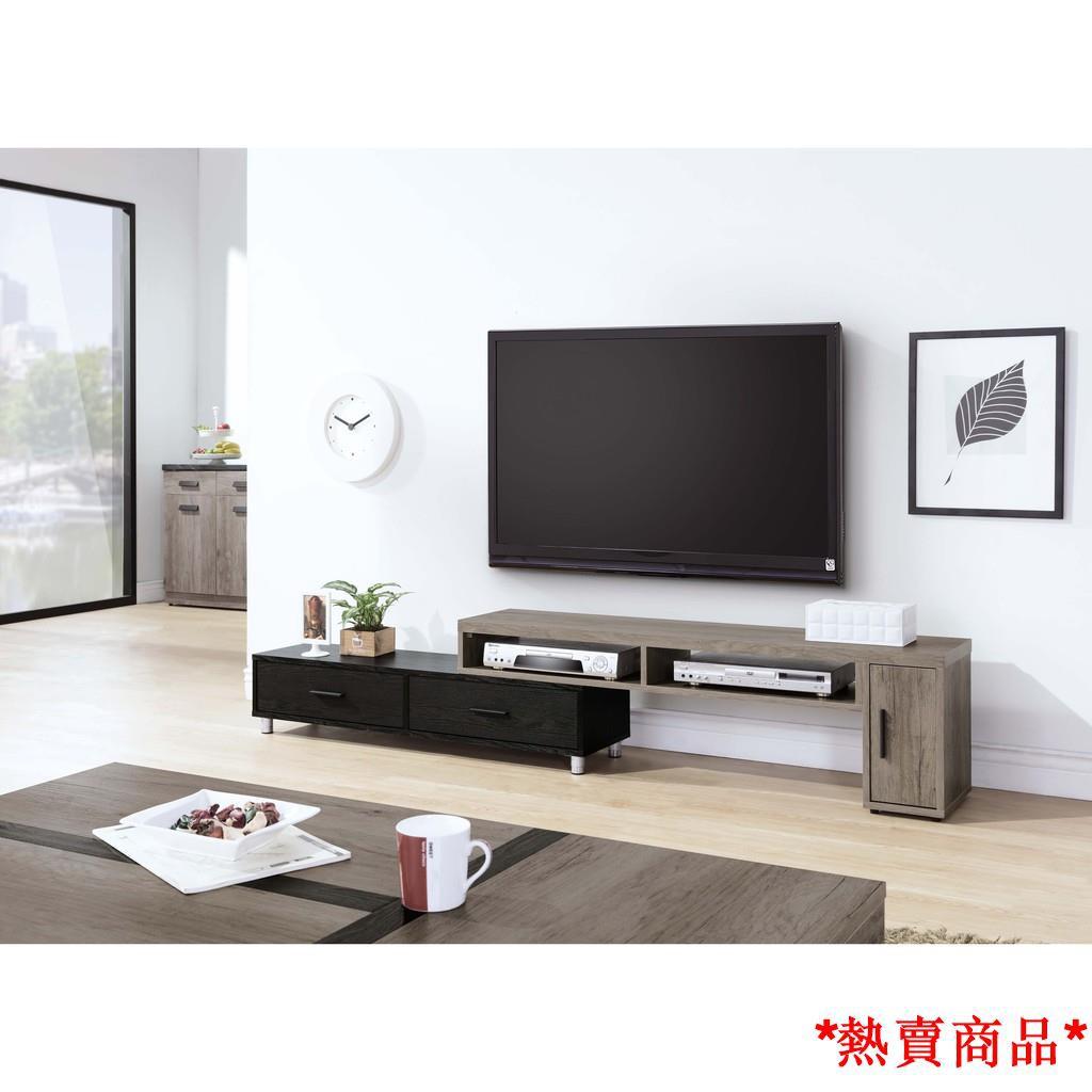 【店家推薦】肯特古橡色4.6尺伸縮長櫃 電視櫃