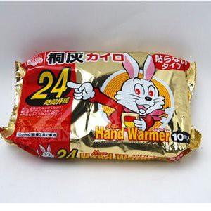 現貨 日本 小白兔 手握式 暖暖包 單片 發熱 持續時間 24小時 手握式暖暖包 寒流 露營用品 小白兔暖暖包