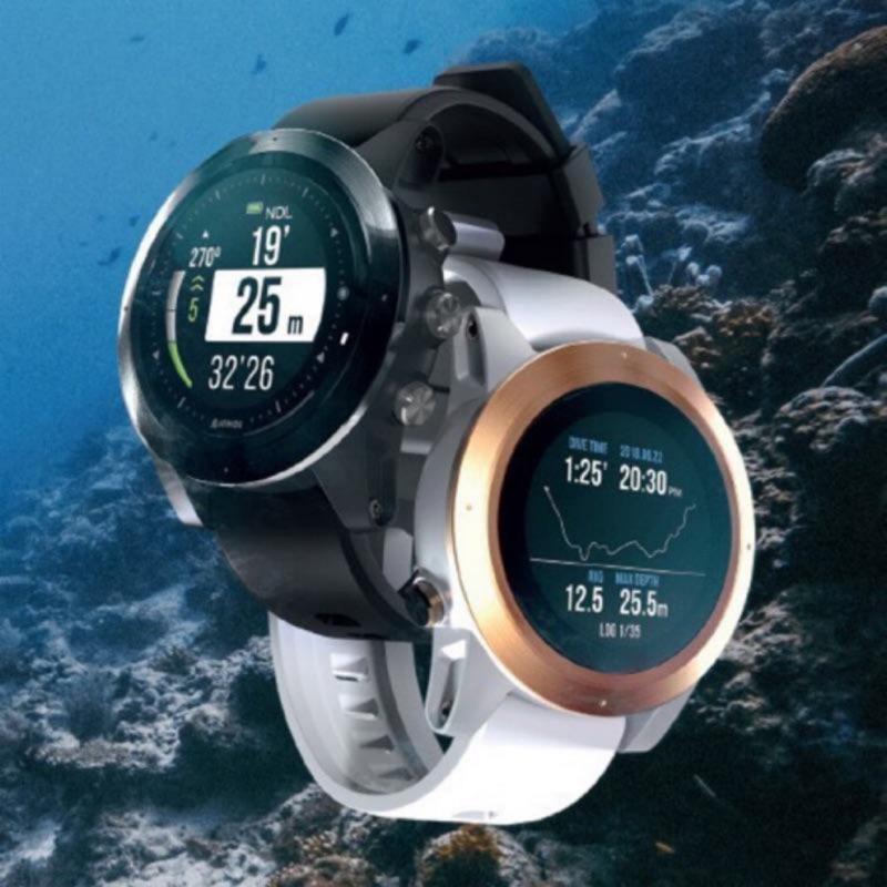 亞潮潛水  最新色 ATMOS MISSION ONE 電腦錶 保固兩年 充電 超值 白金 黑色