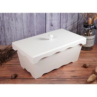 【白色木器】1B25中型(二格)長方糖果盒~碟古巴特 拼貼 餐巾紙 彩繪 黏土DIY美勞材料~{囍愛手作}