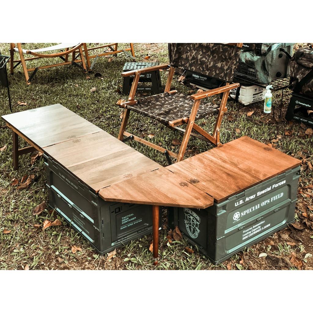 【作伙企露營】 CampingBar 軍風折疊側開收納箱套組-下單前請詢問是否有貨
