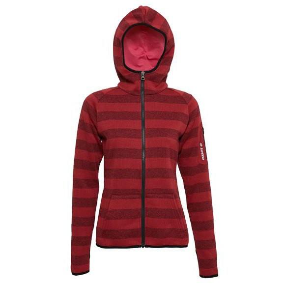 金英鞋坊~LOTTO樂得 女款保暖升溫刷毛連帽外套 保暖2級 [1241] 紅 超值價$590