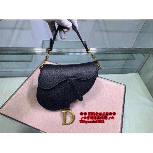 【海外正品代購】☆全新 正品 Dior 迪奧 迷你 SADDLE牛皮馬鞍包 手提單肩斜挎包 M0447CWVG_M900