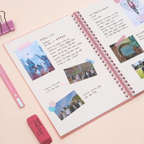 包郵#ardium韓國簡約純色線圈小方格自由記事本學生辦公筆記本細格手帳
