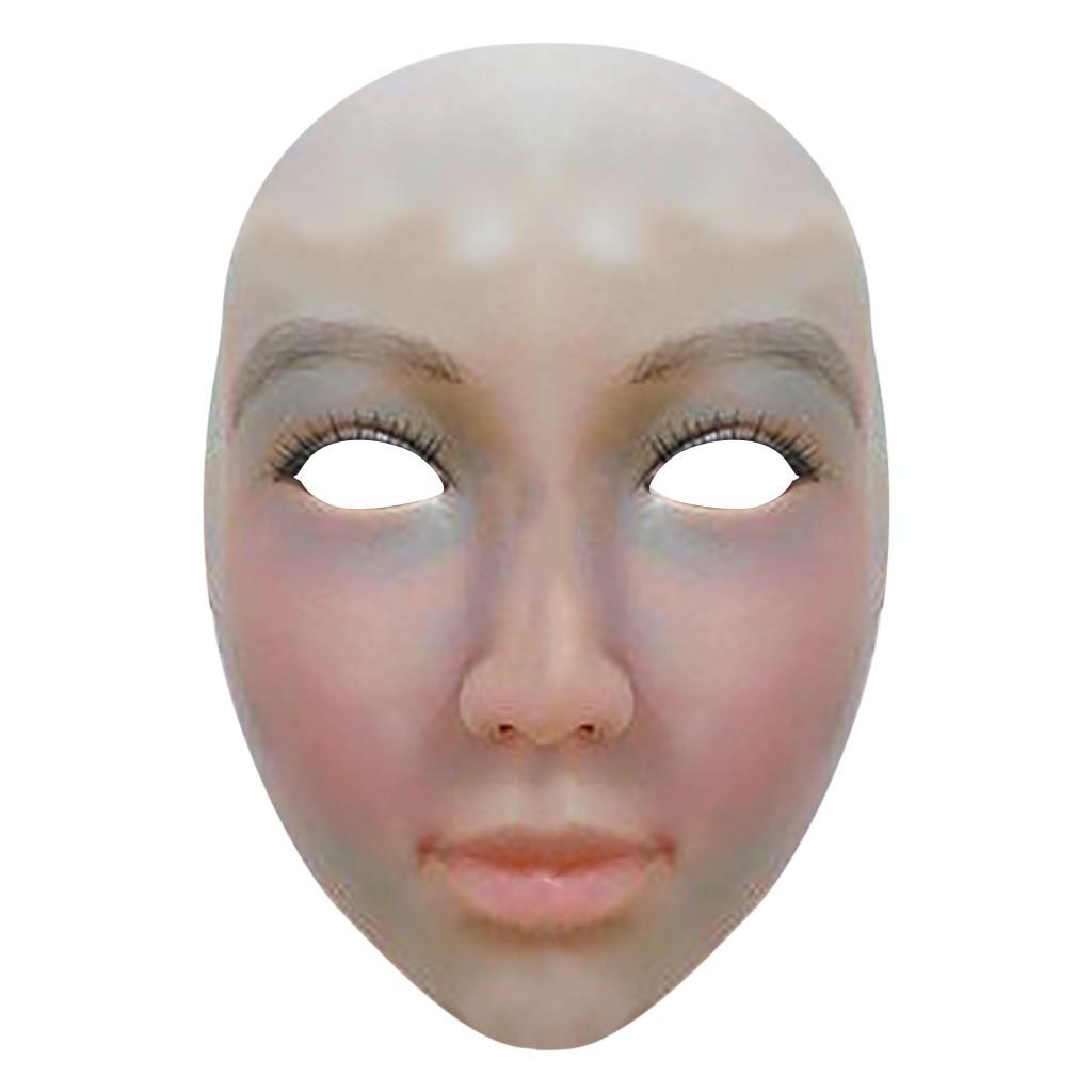 Mixlatex 橡膠女性娃娃化裝交叉連衣裙頭罩女面膜新款