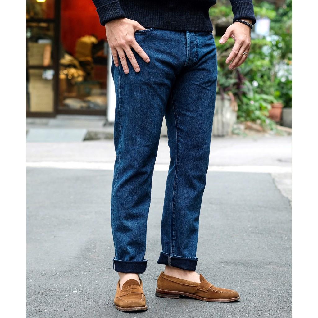 人氣版型 COF Studio M7 意產面料 錐形小腳修身 水洗赤耳牛仔褲