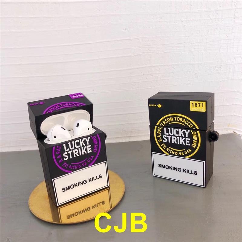 【賣場推薦】適用 AirPods Pro耳機保護套 煙盒 airpods2 保護套 酷 盒子 環保矽膠  防摔防刮 創意