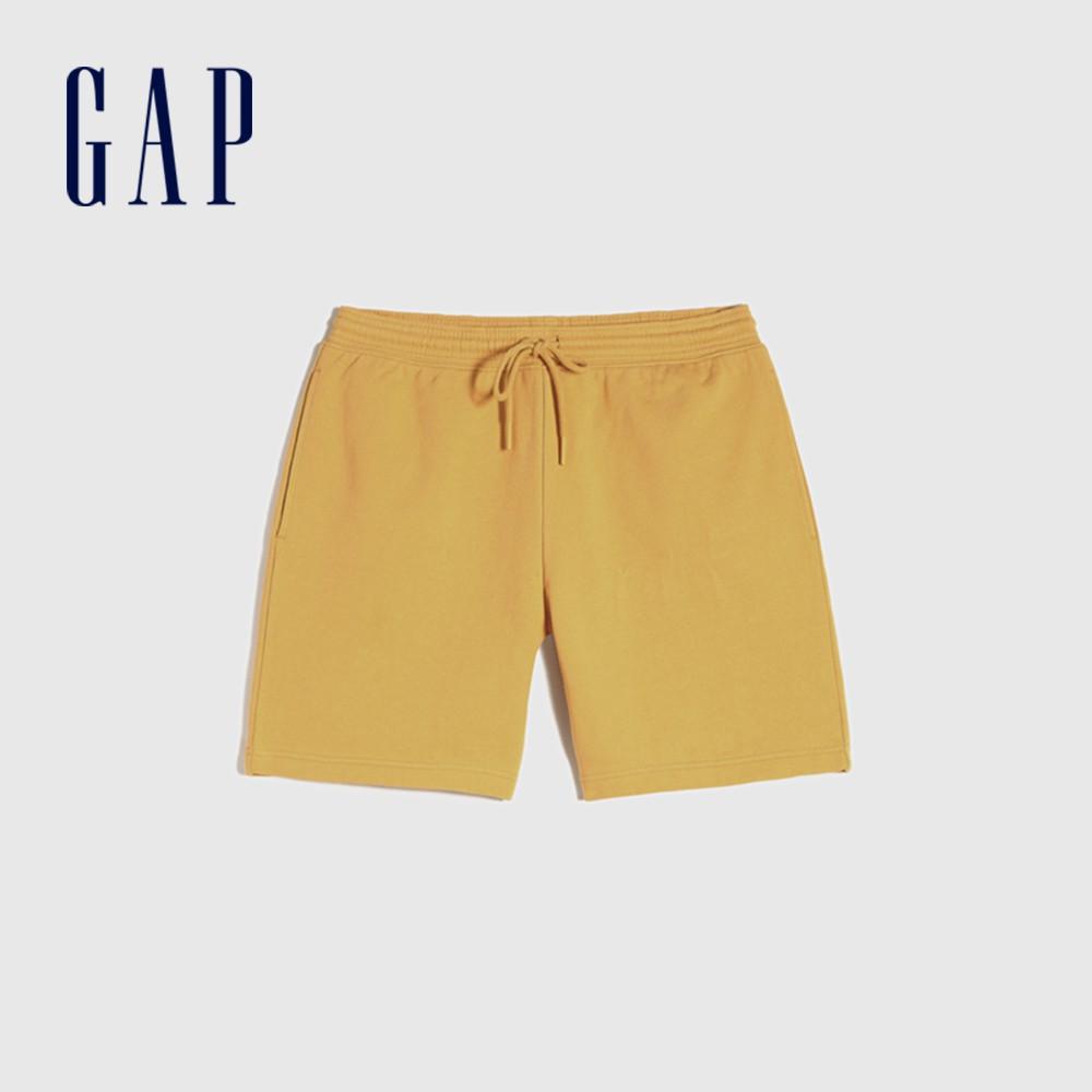 Gap 男裝 純棉質感厚磅休閒短褲 690741-金黃色
