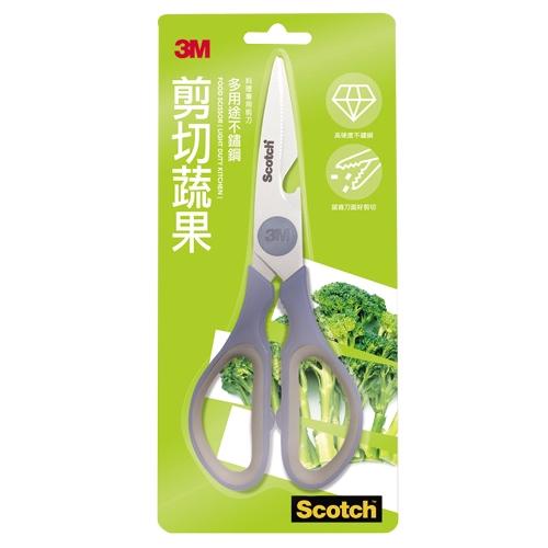 3M剪切蔬果廚房剪刀(不鏽鋼錶面)【愛買】