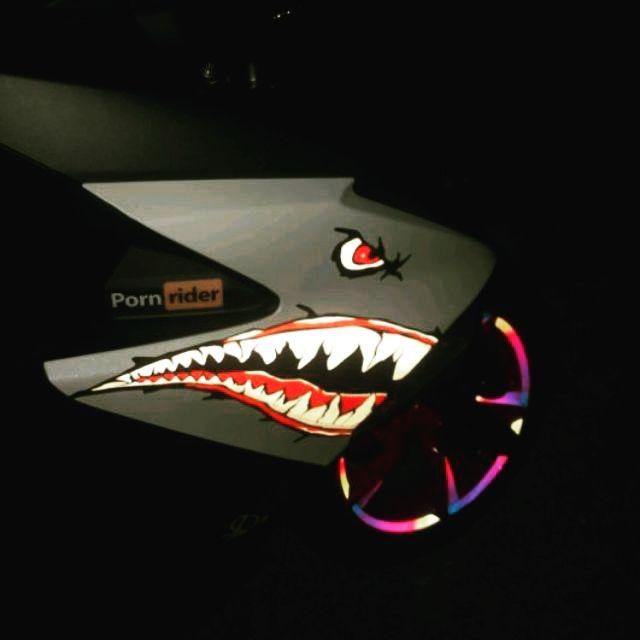 Yamaha Force155 Force 155 鯊魚反光貼紙