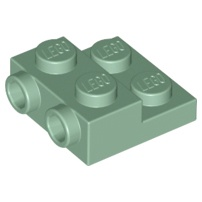 LEGO 樂高 沙綠色 Plate 2x2x2/3 2 Studs 側邊附顆粒 99206 6223171