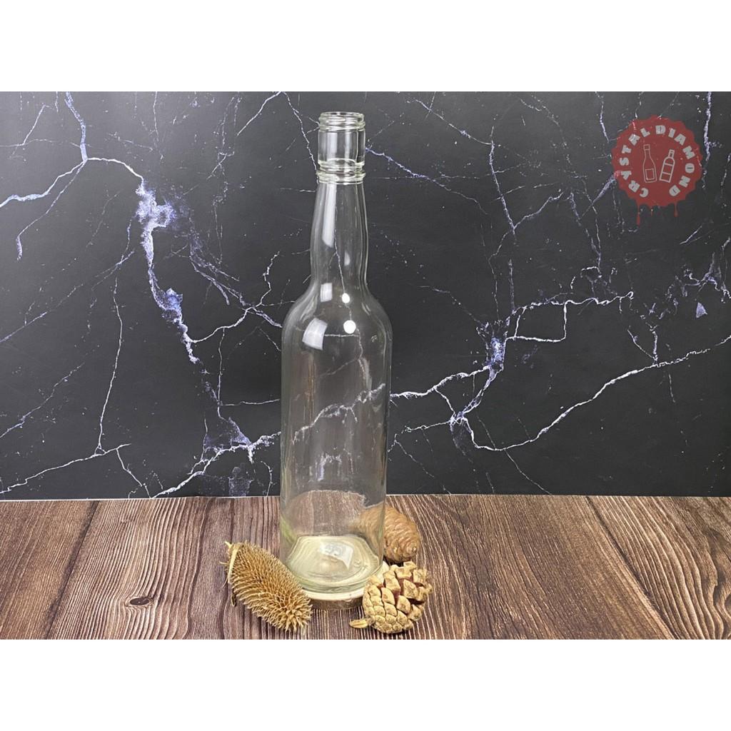 【晶鑽】🔱透明玻璃瓶K695A/玻璃瓶/500cc/水瓶/酒瓶/醬油瓶/高粱瓶