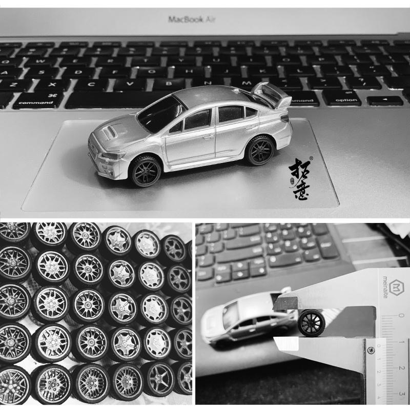 【24小時發貨】1/64 輪圈 輪轂 二改 拓意出品 1:64 改裝系列 小車改造 輪轂輪胎膠胎 11mm KYCZ