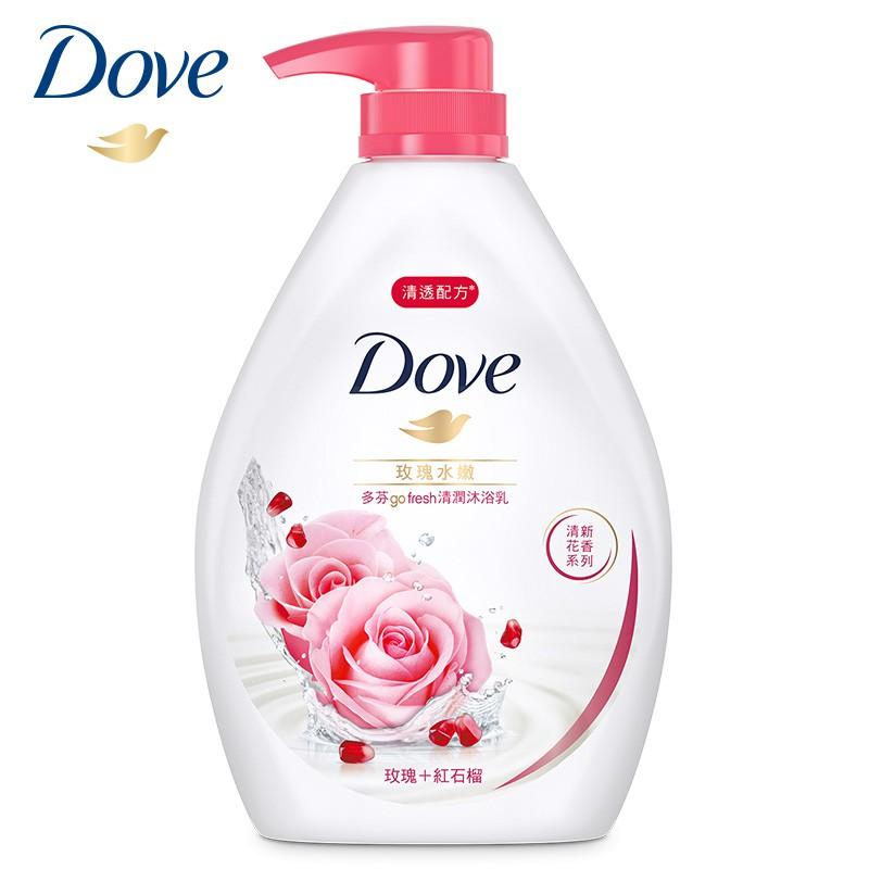 多芬 玫瑰水嫩沐浴乳 1000g