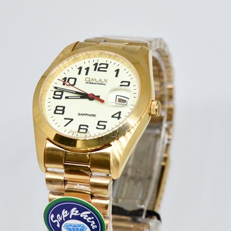 OMAX不鏽鋼防水夜光手錶