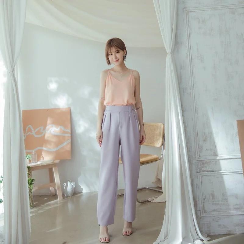 [ASPEED] 法式香榭打褶修身西裝褲