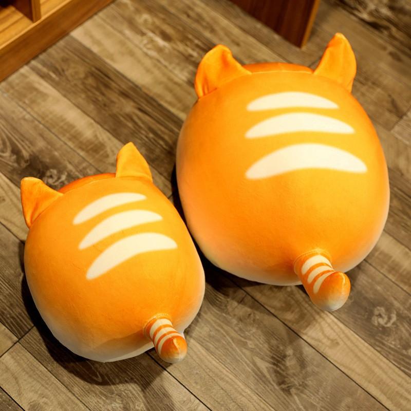 限時下殺批發價創意仿真面包貓毛絨玩具可愛圓滾滾團子貓咪抱枕玩偶批發定制