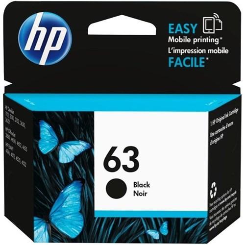HP 惠普 F6U62AA 黑色 原廠 HP 墨水匣 HP 63 Black DeskJet 1110/2130