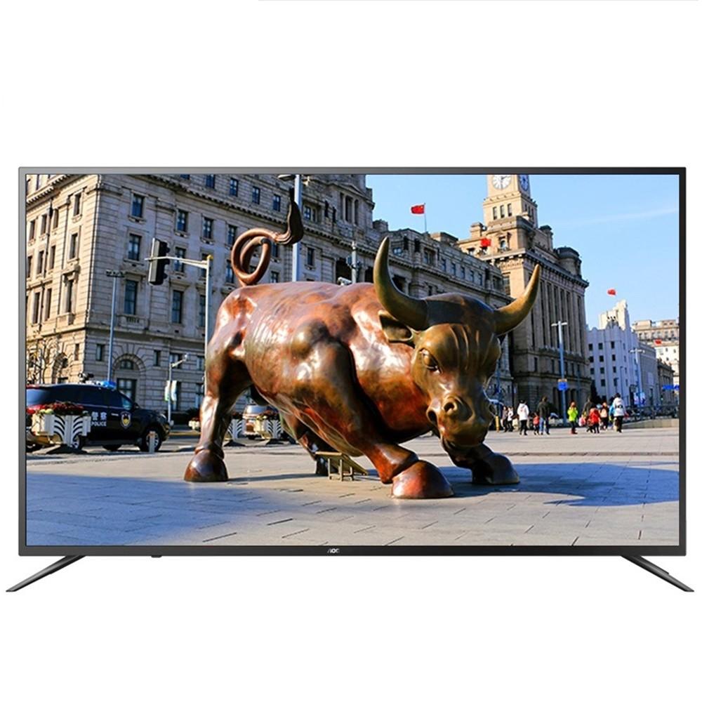 【美國AOC】65吋4K HDR智慧聯網液晶顯示器+視訊盒65U6090 福利機(限送桃園以北)