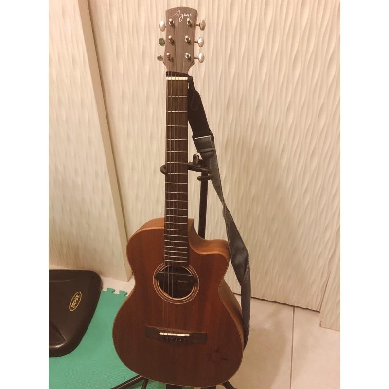 (二手)AYERS TO-03C 迷你小太陽 全單板旅行吉他+ SkySonic 木吉他音孔拾音器 T902