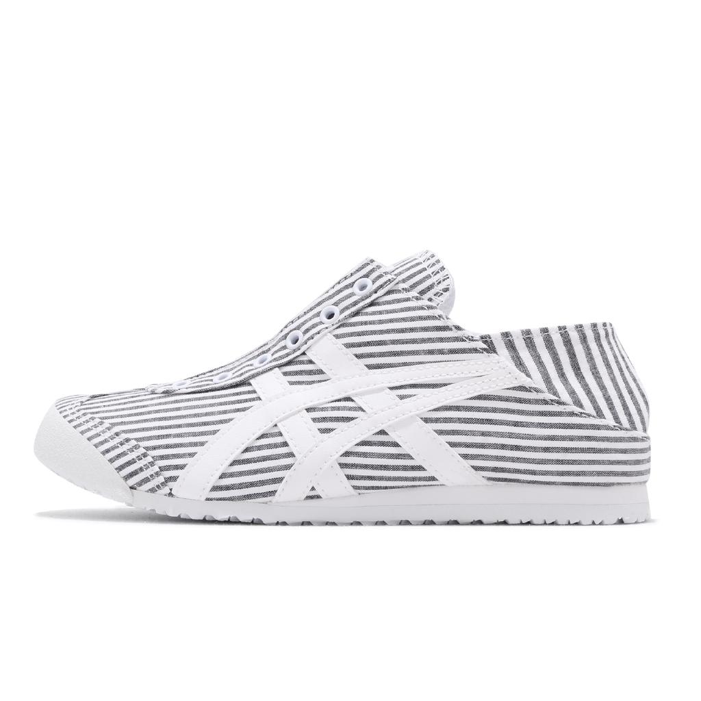 【ACS現貨】 Onitsuka Tiger 休閒鞋 Mexico 66 Paraty 黑 白 條紋 可腳踩 男女鞋