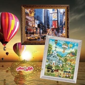 ArtLife 藝術生活 現貨 HK101 / HK102 歐式畫框_ 數字油畫 金/白/ 現貨 適用40X50