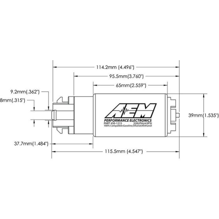 [極速電堂公司貨] AEM E85 340L 340 L 340 LPH 高流量 汽油幫浦 韋伯 偉伯 GTR R35