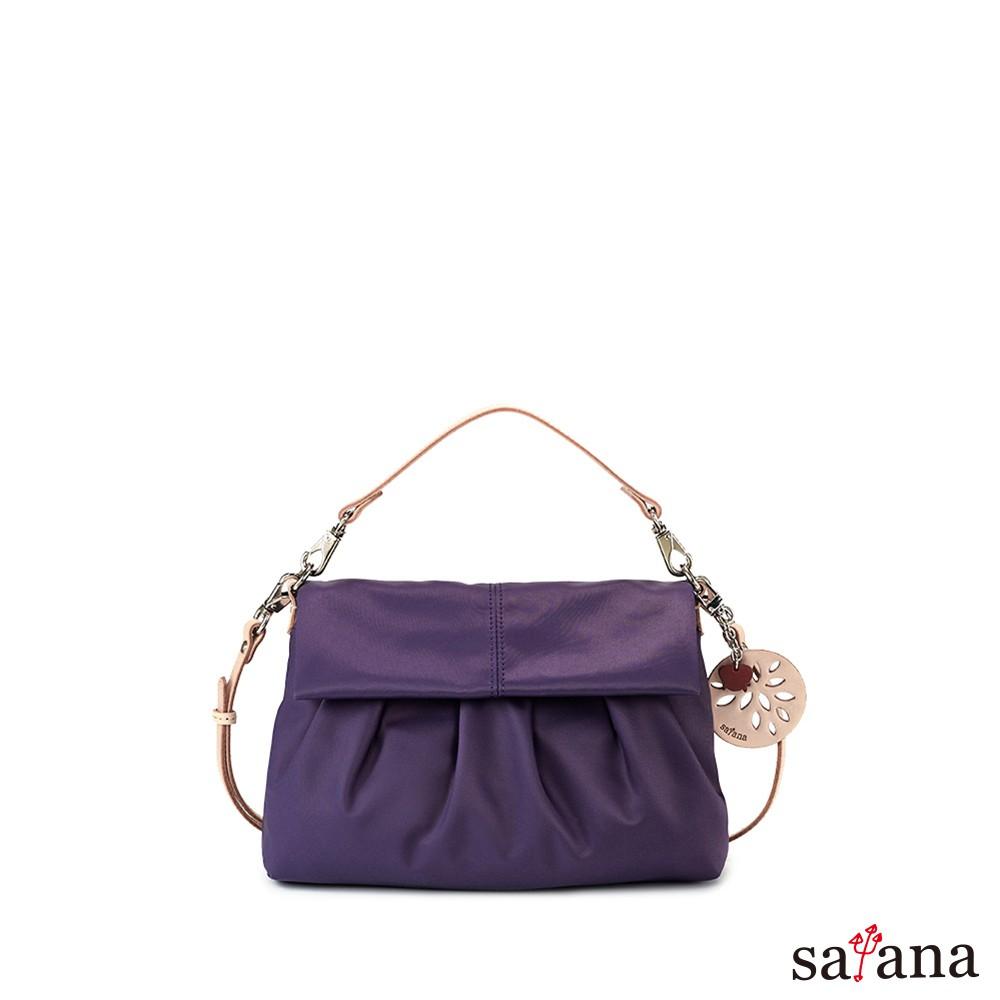 satana 多變風格掀蓋式 手提/肩背包/側背包/斜背包-紫水晶