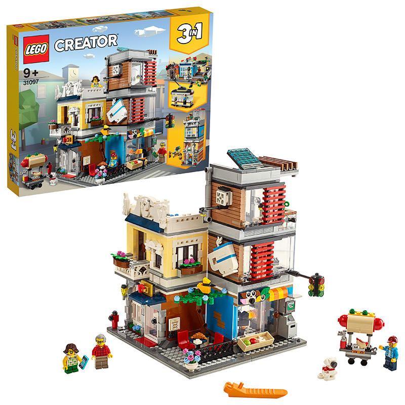 【滿天星辰】LEGO樂高創意系列31097寵物店和咖啡廳建築街景兒童益智玩具組裝