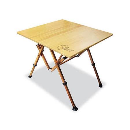 Outdoorbase 和風竹板桌 露營餐桌 摺疊桌 25537 【登山屋】