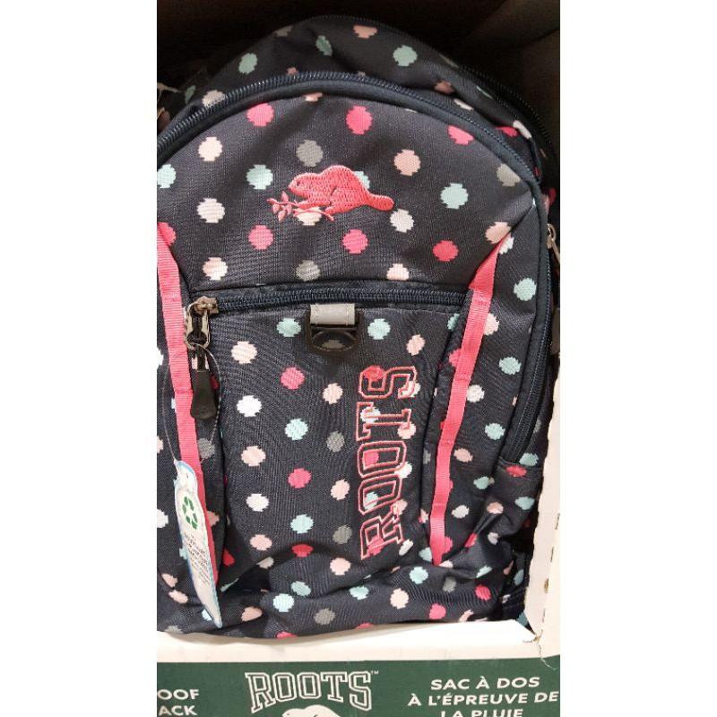 ROOTS BACKPACK多功能休閒後背包可放17吋筆電有灰色×2,圓點圖案1個 好市多代購