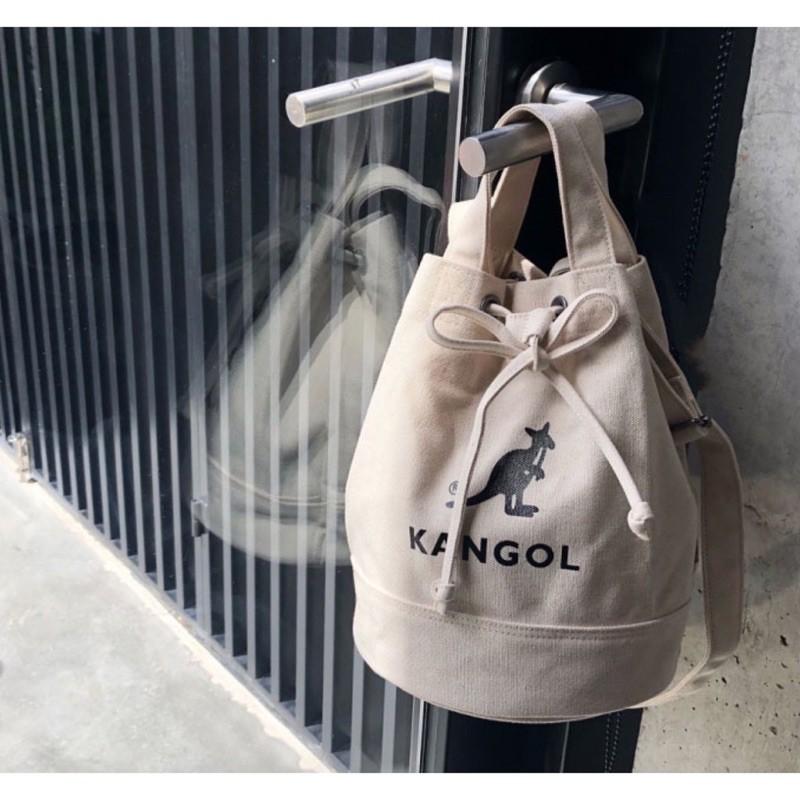 現貨秒出最晚14天收到!!!直筒水桶包正版KANGOL 袋鼠帆布包斜挎包