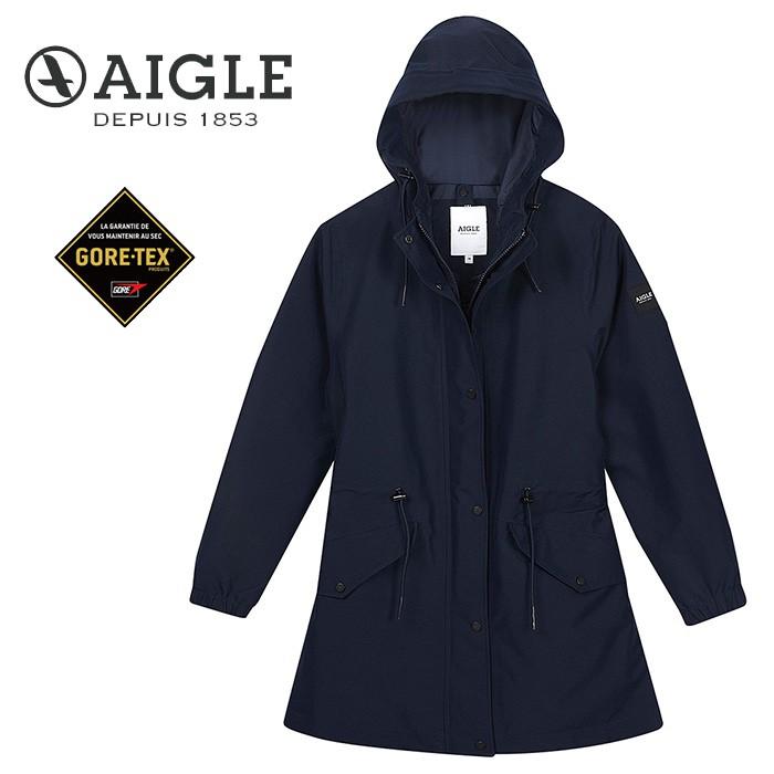 【AIGLE 法國】ANIKER GORE-TEX 防水外套 風衣 女款 深藍色 (AG-0A209-A057)