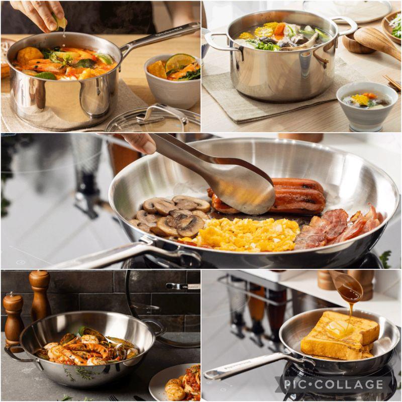 (現貨/限量)💕7-11 KitchenAid 樂廚時光 精品集點 不繡鋼鍋具 平底煎鍋 單柄鍋 雙柄鍋 平底炒鍋含蓋