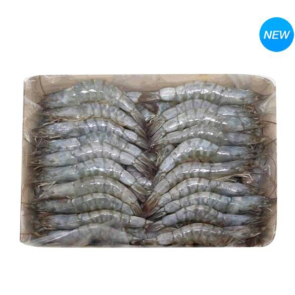 Premium Choice 冷凍帶殼帶尾生白蝦 11-15 / LB 3公斤 W125041