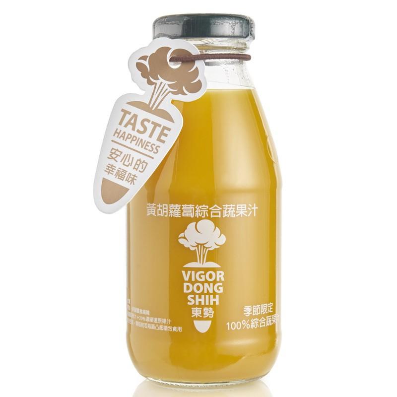【VDS活力東勢】100%黃胡蘿蔔綜合蔬果汁290ml x 24瓶
