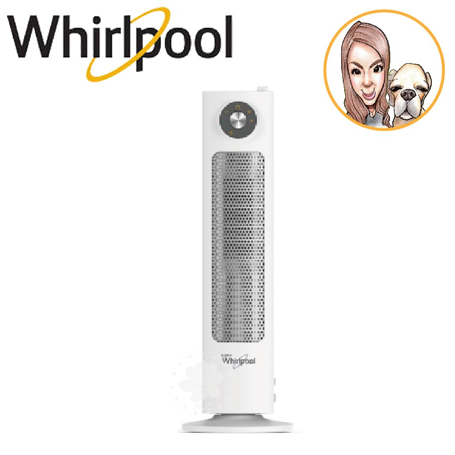 Whirlpool惠而浦  暖房加濕2in1陶瓷電暖器 WFHE80AW 免運費 公司貨