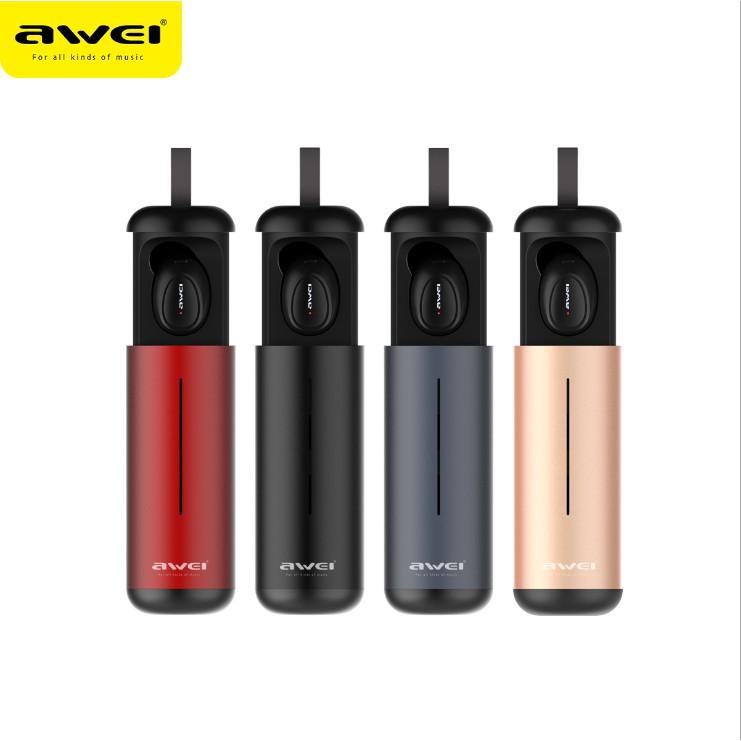Awei T5 雙耳無線藍牙耳機 (超迷你 藍牙5.0帶充電艙 運動 立體聲)