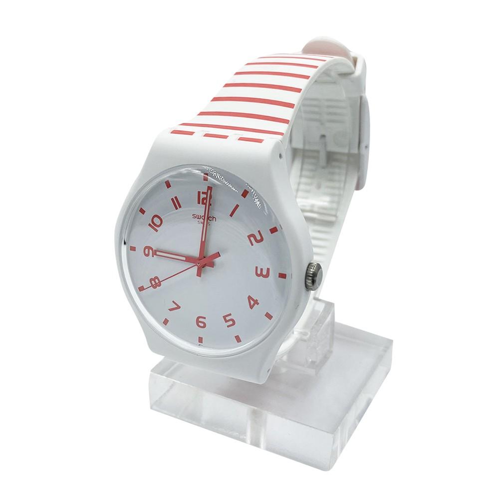 Swatch REDURE 夜光 腕錶 手錶 紅白 SUOW150