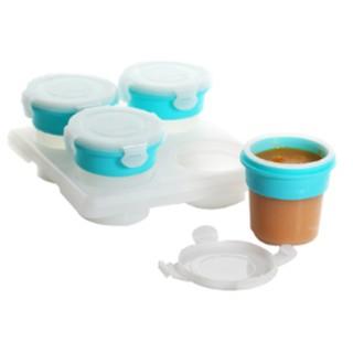 【捷達通訊】超好用 ~ 2angels 副食品矽膠儲存杯 /  冰磚盒 /  食物泥分裝盒 120ml (四入)~含稅價
