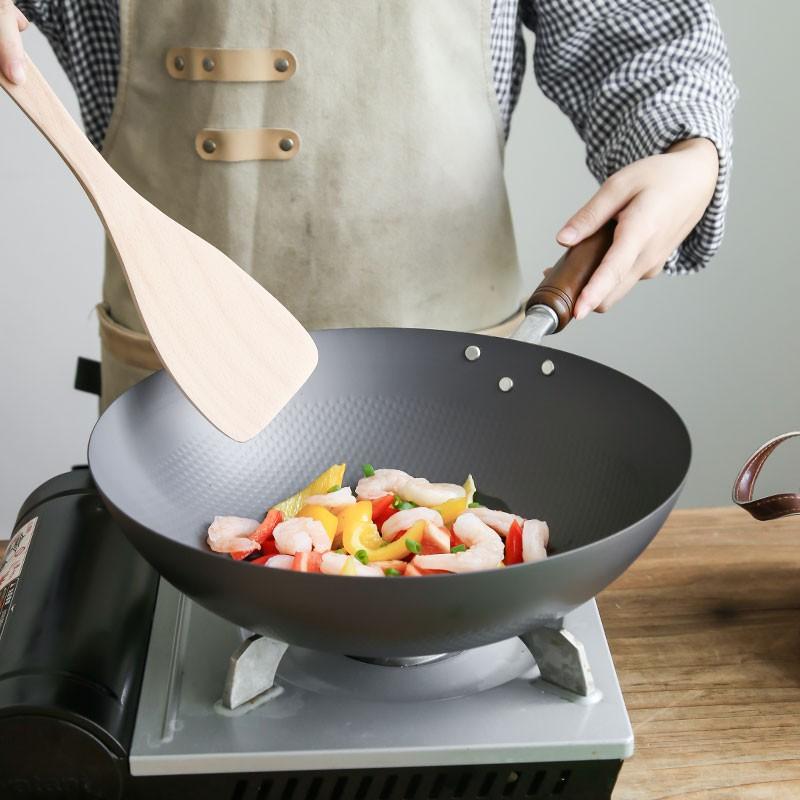 ⭐日本進口餐具⭐鍋小姐日本進口SUMMIT極鐵窒化鍋無塗層輕巧中式炒菜鍋熟鐵煎鍋