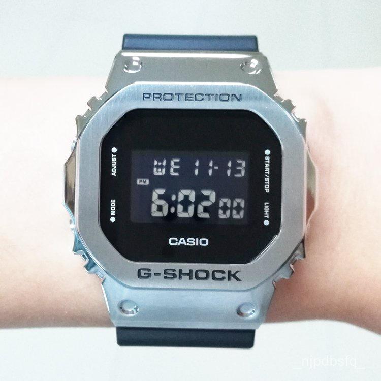 開學季卡西歐方塊G-SHOCK男女手錶GM-5600-1/B-3 GM-S5600PG/SB/6900SCM CFMA
