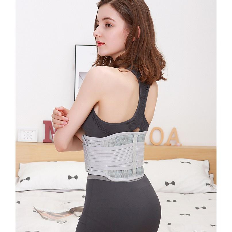 【人氣超夯】運動醫療級護腰帶腰椎盤突出雙層加壓護腰透氣加寬健身收腹高彈性不鏽鋼支撐條護腰磁療護腰熱銷